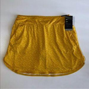 Nike Printed Golf Skirt Skort Yellow UPF XS